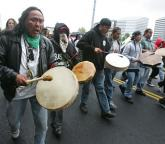 Drummers at march honouring John T. Williams